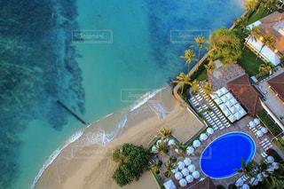 ワイキキビーチの俯瞰ショットの写真・画像素材[1057229]