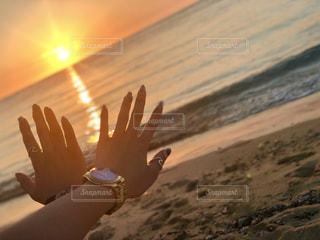 風景,海,夕日,ネイル,サンゴ,沖縄,浜辺,ポートレート,サンセット