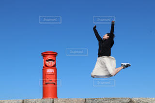 ジャンプ,楽しい,元気,ポスト,明るい,ポジティブ,郵便ポスト,伊勢志摩スカイライン