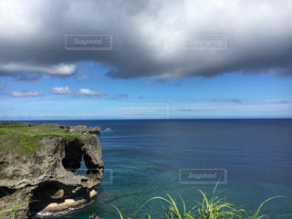 海,空,雲,沖縄,旅行,万座毛