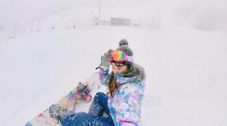 女性,1人,風景,アウトドア,冬,スポーツ,雪,屋外,人物,人,スキー,ゲレンデ,レジャー,長野,スノーボード,フォトジェニック,インスタ映え