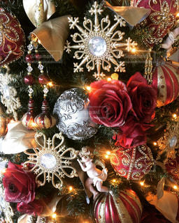 冬,クリスマス,ツリーの飾り