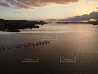 キューバ旅行 船上からの夕日の写真・画像素材[958937]