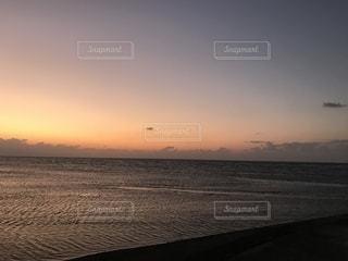 海,空,夕日,雲,波,夕陽,真玉海岸