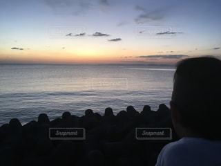 夕暮れ,沖縄
