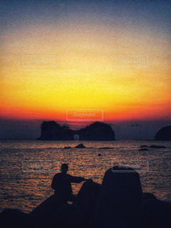 円月島の夕焼け - No.956455