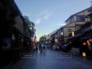 夏,京都,夕方,祇園,花見小路,暮れなずむ