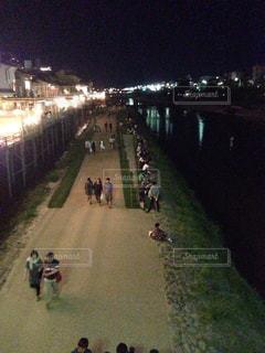 夏,夜,京都,夕方,観光,鴨川,淀川水系,一級河川