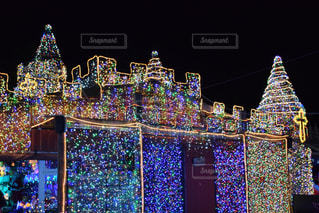 冬,夜,家,イルミネーション,キラキラ,クリスマス