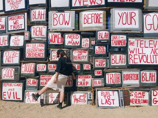 風景,空,赤,青,アート,アメリカ,LA,海外旅行,世界,Los Angeles,フォトジェニック,Eastjesus