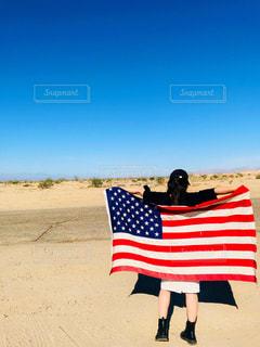 女性,自然,風景,空,青,アメリカ,砂漠,旅,LA,海外旅行,世界,Los Angeles,フォトジェニック