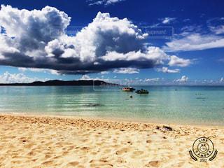 空,ビーチ,青,水面,沖縄