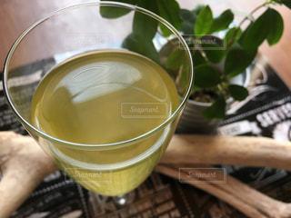 緑茶でティータイムの写真・画像素材[1058701]