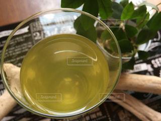 緑,葉,リラックス,スタイリッシュ,グラス,ティータイム,日本,お茶,和,グリーン,緑茶,日本茶,グリーンティー,香り,おしゃれ,煎茶,洋
