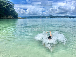 夏休みは海でエンジョイの写真・画像素材[4327836]