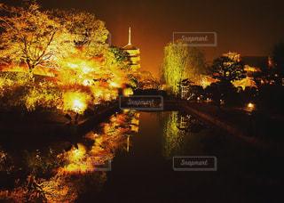 夜の街の景色の写真・画像素材[913884]