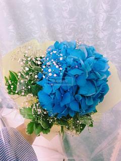 花,かすみ草,花束,あじさい,フラワー,紫陽花,flower,梅雨,フラワーアレンジ,blue