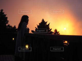 夕陽の写真・画像素材[960285]