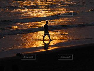 江ノ島の夕陽の写真・画像素材[960308]