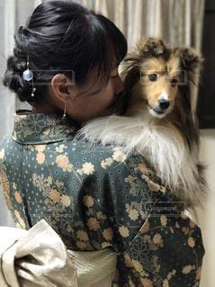 愛犬と私の写真・画像素材[990422]