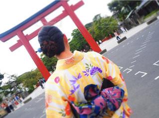 着物ヘアアレンジの写真・画像素材[1059412]