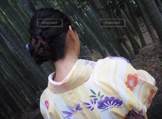 着物ヘアアレンジの写真・画像素材[1059421]