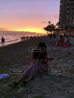 ハワイの海での写真・画像素材[3200690]