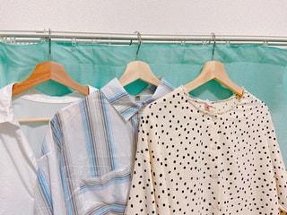 ファッション,夏,日常,洋服,シャツ,生活,ドット,ライフスタイル,ブラウス,収納,衣替え,整理整頓