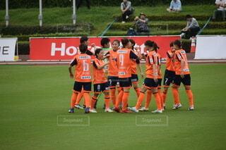 サッカーチームの写真・画像素材[3832967]