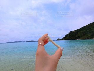 水体のフリスビーを投げる人 - No.1105388