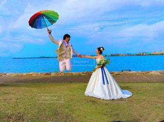 傘,雫,前撮り,雨の日,カラフル傘