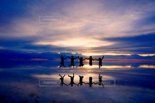 ウユニ塩湖の写真・画像素材[928777]