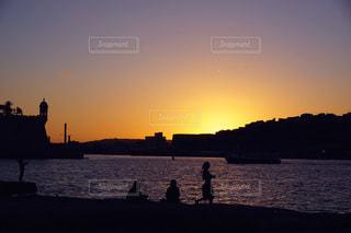 夕焼け空の写真・画像素材[956933]