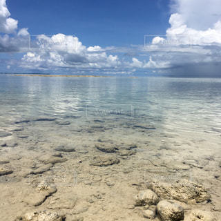 水の体の横にある砂浜のビーチ - No.917002