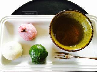 桜,ピンク,緑,白,お茶,俯瞰,ライフスタイル,緑茶,複数,煎茶,俯瞰ショット