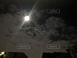自然,風景,空,夜,雲,暗い,月,満月,ライフスタイル,ムーン,中秋の名月,中秋の月