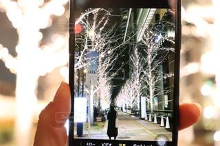 女性,夜景,散歩,撮影,イルミネーション,ライトアップ,明るい,デート,携帯,撮影会,ファインダー,テキスト,ファインダー越しの世界,シャンパンゴールド,フォトウォーク,スタートフォン