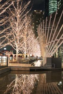 建物,冬,夜,橋,夜景,屋外,綺麗,樹木,イルミネーション,都会,ライトアップ,クリスマス,照明,明るい,建築,景観,シャンパンゴールド