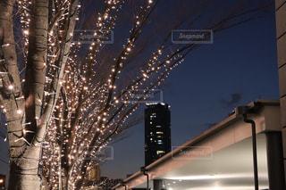 空,建物,夜,屋外,イルミネーション,都会,高層ビル,明るい,帰り道,夜散歩
