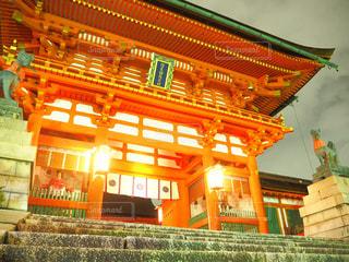 夜,京都,観光,稲荷大社