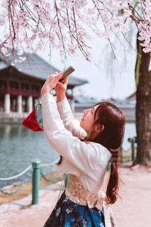 韓服女性の写真・画像素材[921373]
