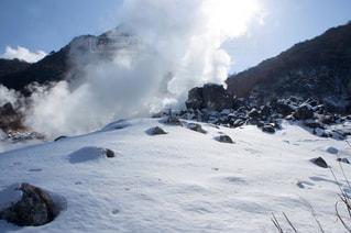 箱根 大涌谷の雪景色の写真・画像素材[935508]
