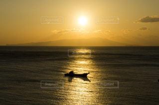 風景,空,夕日,屋外,きれい,夕焼け,大空,夕方,景色,日本,漁船,伊豆,静岡,熱川,夕日がキレイ