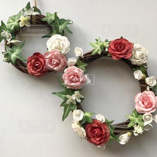 花,フラワー,バラ,草,リース,飾り,アレンジ