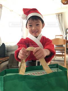 子ども,屋内,クリスマス,サンタ,幼児