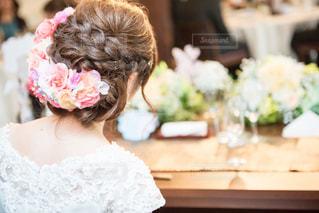 花嫁のヘアスタイルの写真・画像素材[1054113]