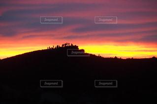 背景の夕日の写真・画像素材[1272107]