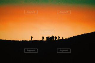 背景の夕日の写真・画像素材[1272114]