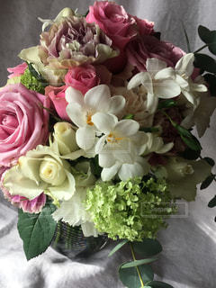 花,春,ピンク,白,花束,カラフル,バラ,ブーケ,クラッチ