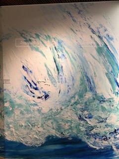 波アート 油彩画の写真・画像素材[1314138]